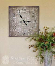 Canvas clock / $34.95