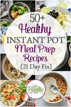 These 21 Day Fix Healthy Instant Pot Meal Prep Recipes are easy, delicious and q. - Healthy Recipes These 21 Day Fix Healthy Instant Pot Meal Prep Recipes are easy, delicious and q. Instant Pot Pressure Cooker, Pressure Cooker Recipes, Pressure Cooking, Healthy Meal Prep, Healthy Dinner Recipes, Healthy Instapot Recipes, Healthy Crock Pot Meals, Clean Eating Snacks, Healthy Eating