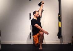 Half Kneeling Kettlebell Rotation and Press #fitness