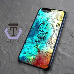 All Time Low Quotes Nebula iPhone 6|iPhone 6S Black Case
