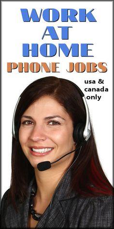 WORK AT HOME PHONE JOBS. From: DavidStilesBlog.com