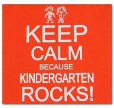 Keep Calm Because Kindergarten Rocks! via Teacher Shirts
