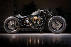 Custom Harley Softail bobber — luxury vehicle For Sale in Batavia, Illinois, United States Softail Bobber, Sportster Motorcycle, Hd Sportster, Harley Bobber, Harley Softail, Motorcycle Art, Custom Bobber, Custom Harleys, Custom Bikes