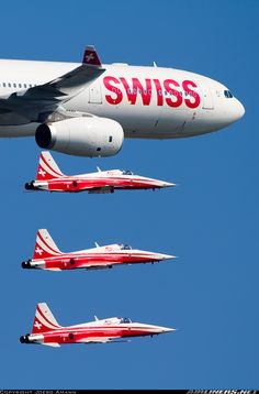 AIR Celebrating 50 years Patrouille Suisse - Photo taken at Payerne (LSMP) in Switzerland on September Commercial Plane, Commercial Aircraft, Luftwaffe, The Art Of Flight, Fun Fly, Swiss Air, Airplane Photography, Air Force Aircraft, International Airlines