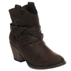 Sayla Microfiber--Updated cowgirl style booties has the right amount of lasso to wrangle you in.   $59.95