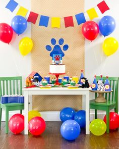 Puppy Birthday Party Ideas for a Paw Patrol Birthday Party or Puppy Dog Pals Birthday Party with your Cricut Maker by Pineapple Paper Co. Paw Patrol Party Favors, Paw Patrol Party Decorations, Paw Patrol Birthday Theme, Paw Patrol Cupcakes, Diy Birthday Decorations, Puppy Birthday Parties, Puppy Party, Birthday Diy, Birthday Party Favors