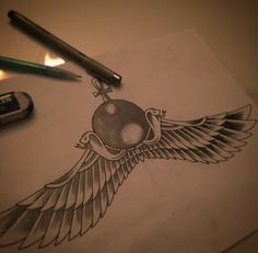 Hand Drawn egyptian tattoo. Very Unique. Can't wait for this one.