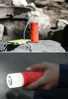 Buckshot Pro The Buckshot Pro is a wireless speaker, power bank, & light all-in-one. It's got a battery & USB output to charge your devices. The flashlight accessory screws on when you need it & off when you don't. The rugged shock- & water Really Cool Gadgets, Best Home Theater, 3d Pattern, Wireless Speakers, Portable Speakers, Mens Gear, Technology Gadgets, Flashlight, Voss Bottle
