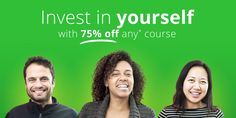 As we know there are lots of students which want to learn the professional courses from the online platform do not worry about everything. Udemy is one of the best platforms which providing the online courses for the students you can learn here technology related courses like HTML programming java tutorial and much more. Save huge amount through coupons and promo codes from webtechcoupons. http://www.webtechcoupons.com/offers/udemy/