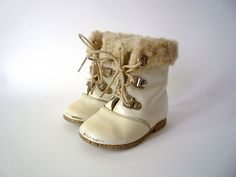 Vintage Pair of Baby Leather Boots