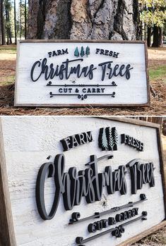 Spread Christmas cheer with Harper Grayce signs! These handcrafted signs are made with reclaimed wood and laser cut letters. MountainModernLife.com