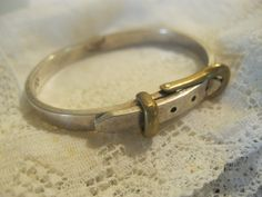 Vintage Taxco Sterling Childs Buckle Bracelet.