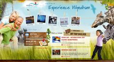 Experience Wyndham - What a fun (makes you want to explore) looking design