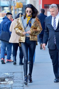 Gold star! Kendall Jenner stepped out in yet another striking look on Monday in New York City