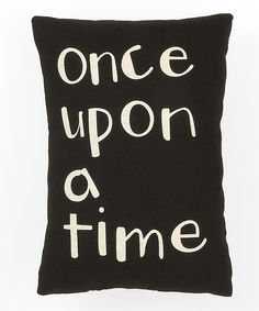 Collins Black & White 'Once Upon a Time' Throw Pillow