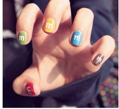 M nails. Haha these are cool