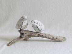 sculpture oiseaux bois flotté raku animaux céramique grès  artisanal fait main Jean-Pierre Meyer
