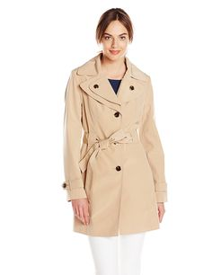 Calvin Klein Women's Single-Breasted Double-Collar Trench Coat ** You can get additional details at the image link.