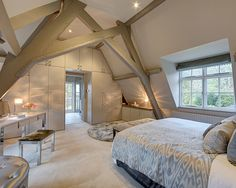 Loft Conversion Bedroom Ideas , Have fun with the colors, but remember that it's a bedroom and is probably open to the remaining portion of the house. In any case, attic bedroom may . Attic Master Bedroom, Attic Bedroom Designs, Bedroom Loft, Master Bedroom Design, Attic Bathroom, Extra Bedroom, Attic Design, Artistic Bedroom, Loft Design