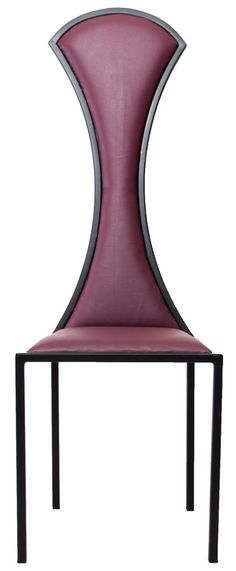 The Contour - Black Metal Frame with Wineberry Leather Chair – Andrew McQueen Furniture