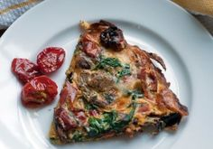Spinach and Goat Cheese Frittata with Slow-Roasted Tomatoes