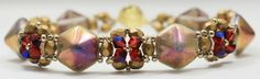 Deb Roberti's Cupola bracelet pattern uses Czech 2-Hole Pyramid Beadstuds.