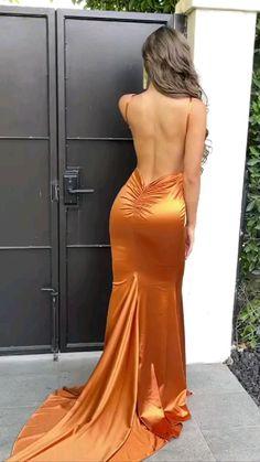 Satin Dresses, Elegant Dresses, Pretty Dresses, Sexy Dresses, Long Tight Dresses, Evening Dresses, Fashion Dresses, Gowns, Prom Outfits