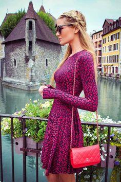 Amber Lynne Fillerup looks-Animal Jaquard Malu Dress