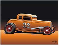 Street Rod Cartoons | Uniomjacks Hot Rod Walllpaper (36)
