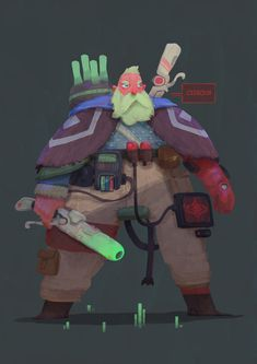 Sci-Fi Character design made just for fun as a personal project.