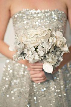 sequin wedding dress - maybe not wedding dress but bridesmaid dress? Wedding Dress Trends, Wedding Attire, Wedding Dresses, Gown Wedding, Sequin Wedding, Sparkle Wedding, Vintage Glam, Vintage Dress, Wedding Fotos
