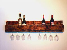 Recycled Pallet Wine Rack | Pallet Furniture Plans