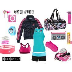 Gym Pink, created by heroandluna on Polyvore (me)