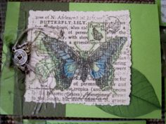 Asian with Butterfly Asian Cards, Hand Stamped Cards, Butterfly Cards, Crochet Necklace, Tropical, Lily, Orchids, Lilies