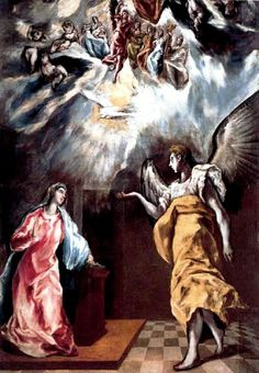 The Annunciation by El Greco                                                                                                                                                      Más