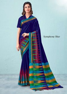 Buy Aura Artz Akhlia 9 Pure Cotton Saree at Sethnic Wholesale in Surat