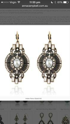 Samantha Wills Hidden Parlour earrings. Bridal Accessories, Wedding Jewelry, Jewelry Accessories, Jewelry Design, Fashion Earrings, Fashion Jewelry, Art Deco Wedding, Wedding Ideas, Bohemian Jewellery