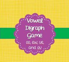 Vowel digraph bang game!  Free
