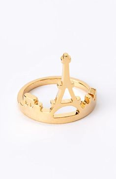 """Eiffel Tower Ring // and it also looks like an """"A"""" for Amanda!! Either way, I LOVE it!!"""