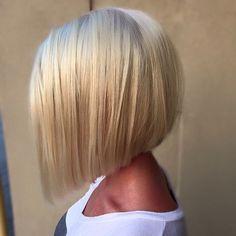 Angled Blond Bob
