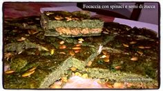 Focaccia+con+spinaci+e+semi+di+zucca Mamma, Beef, Food, Meat, Meals, Ox, Yemek, Eten, Steaks