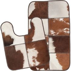 High Quality Cowhide Bathroom Rugs. Like Them But Not Quite Sure.... Might Have