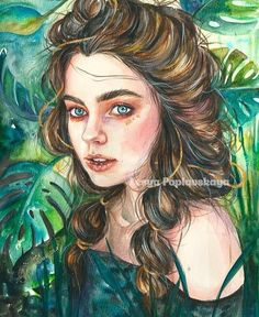21 Must Known Tips and Idea for Art Painting in 2019 Watercolor Face, Watercolor Portraits, Watercolor Paintings, Painting & Drawing, Art Sketches, Art Drawings, Illustration Art, Illustrations, Arte Pop