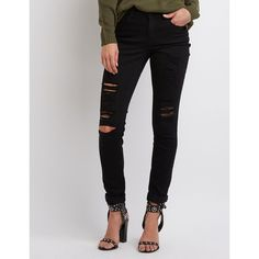 Refuge Skinny Boyfriend Destroyed Jeans ($35) ❤ liked on Polyvore featuring jeans, black, distressed denim jeans, destroyed boyfriend jeans, ripped jeans, distressed boyfriend jeans and boyfriend jeans