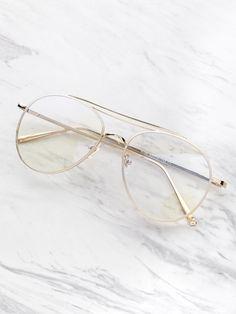 Clear Lens Aviator Glasses Lunette Transparente, Lunette De Vue, Lunettes  De Soleil Yeux De dcdb2b9647c4