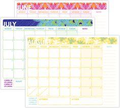 Cute but not TOO cute Printable Calendars