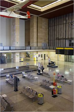 The Tempelhof Airport - The New York Times > Arts > Slide Show > Slide 4 of 14 Berlin City, West Berlin, Berlin Wall, Fascist Architecture, German Architecture, East Germany, Berlin Germany, Early 2000s, 1990s