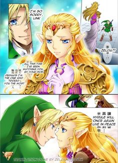 New doujin manga... what an unusual  complex art for a Zelda manga!