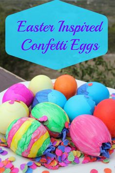 Easter inspired confetti eggs are an Easter tradition that includes Easter eggs filled with confetti. It gives so much color to Easter.