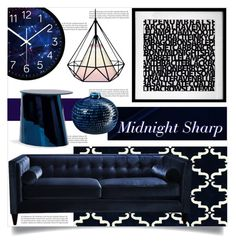 """Midnight Sharp"" by tammara-d ❤ liked on Polyvore featuring interior, interiors, interior design, home, home decor, interior decorating, Balmain, nuLOOM, ClassiCon and CB2"